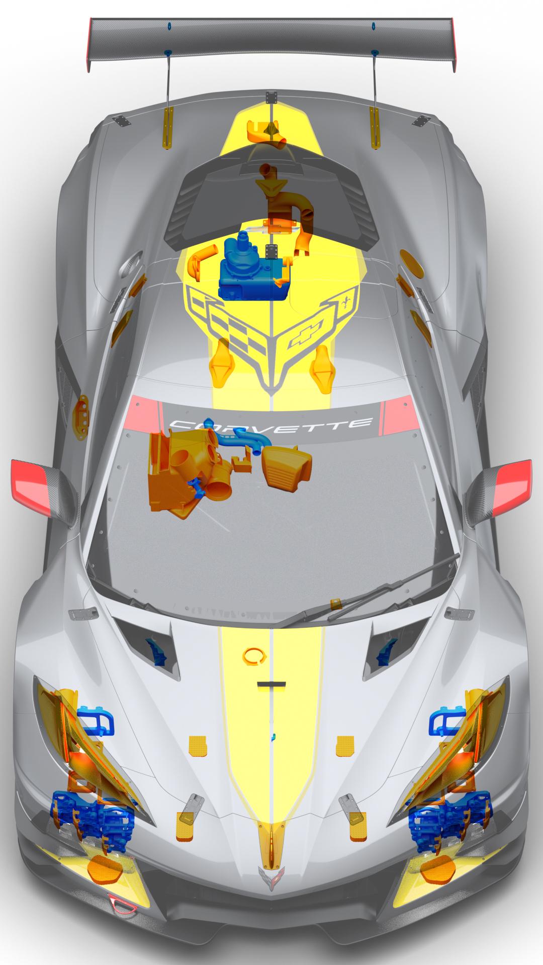 3d baskı parcalarını gosteren model