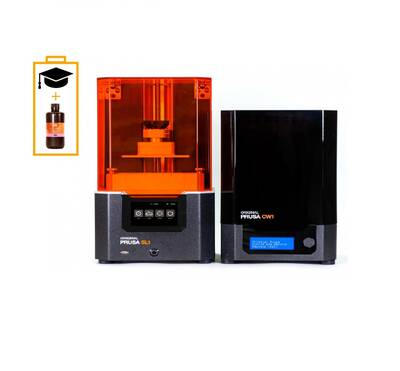 Original Prusa SL1 & CW1 3D Printer Bundle